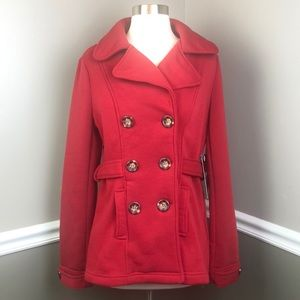 Ci Sono M Red Faux Belted Soft Jacket